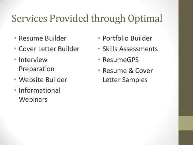 networking sites 32 services provided through optimal resume