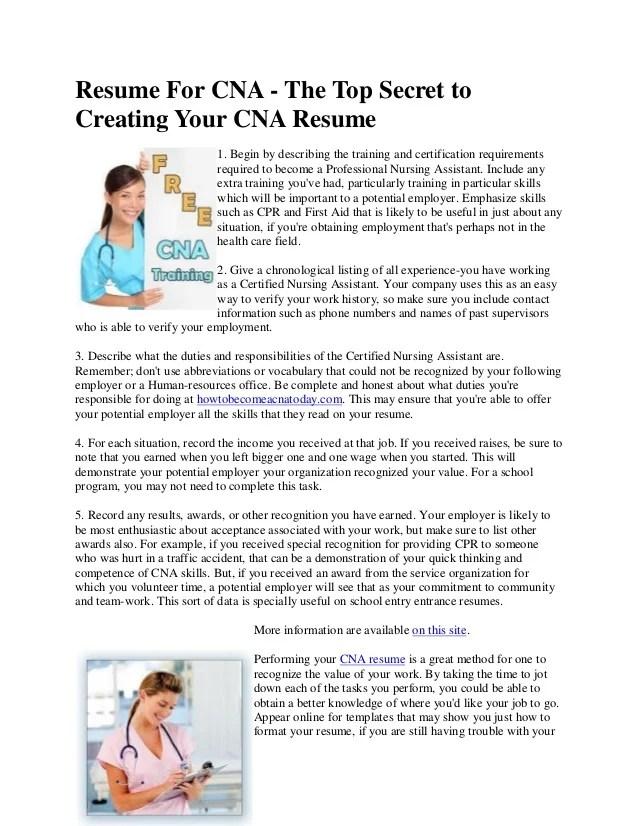cna duties seriorinfo - Duties Of Nurse Assistant