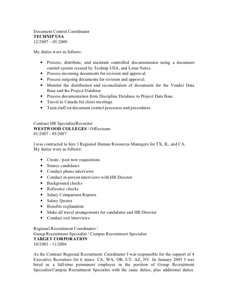 Document Controller Resume Cover Letter. Administration Cv