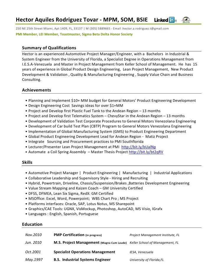 Lean Manufacturing Engineer Resume Sample. sample resumes for jobs ...