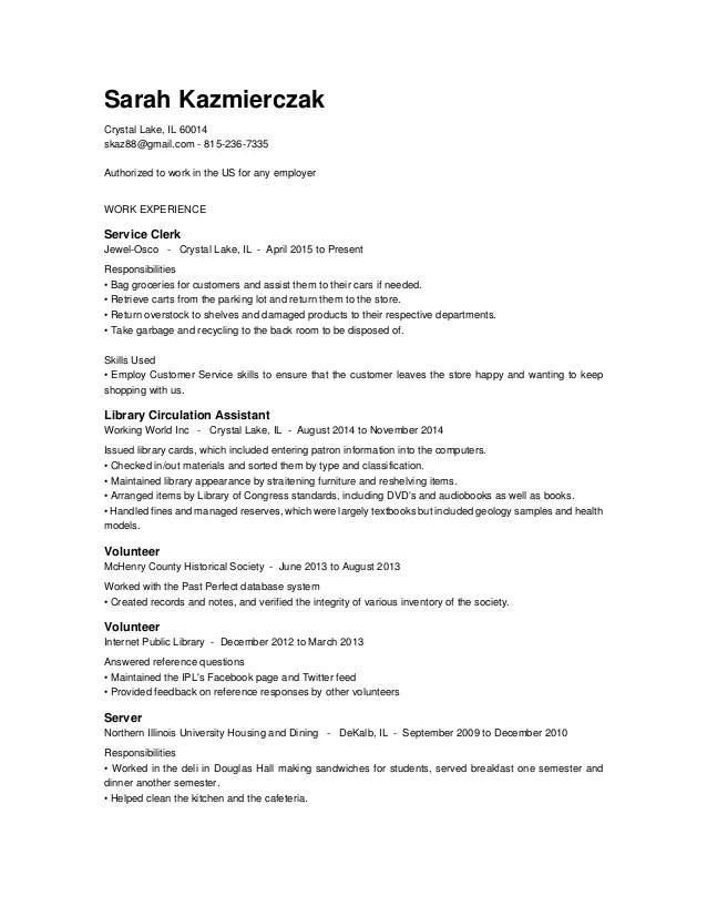 resume indeed
