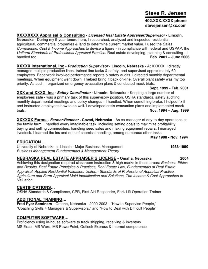 Real Estate Appraiser Cover Letter Examples