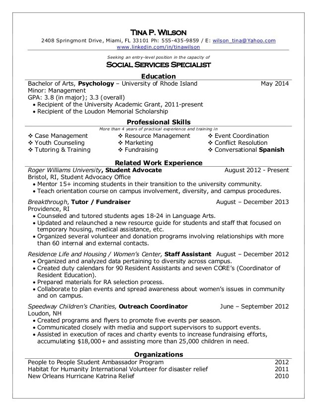 Msw Resume Samples resume summary msw resume sample resume – Social Worker Resume Sample