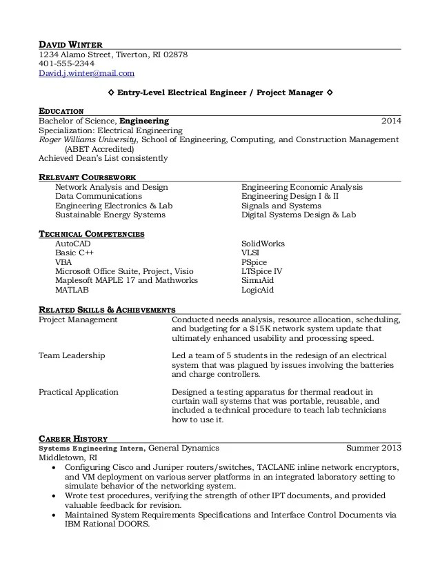 Recent Grad Resumes | Cipanewsletter