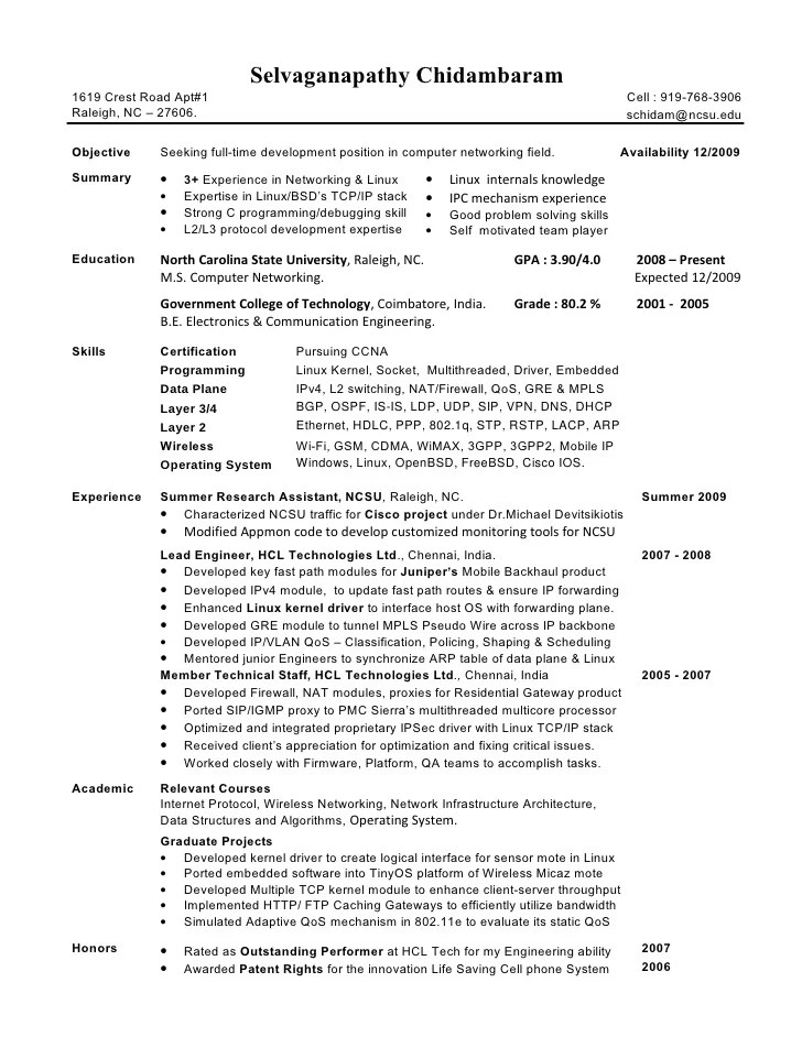 Cisco Network Engineer Resume Example. Network Engineer Resume