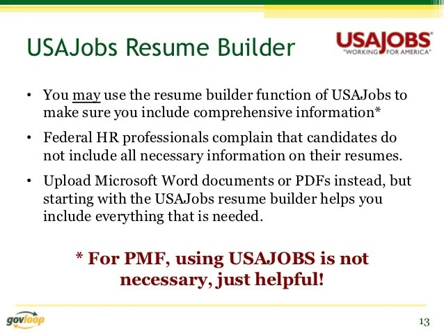 Usajobs Resume Tips. Usajobs Resume Builder Tool Freeonline Resume
