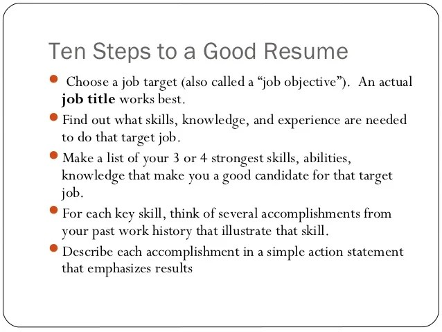 Resume Building Tips Ppt resume writing ppt presentation