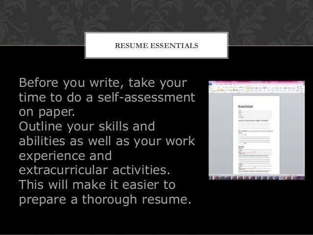 resume writing workshop final military