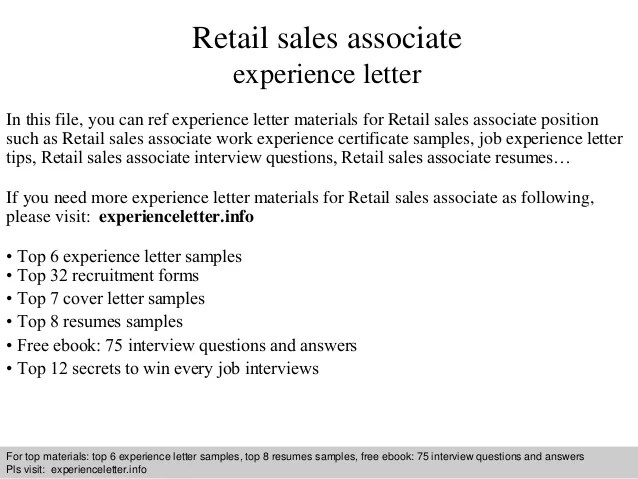 retail sales associate cover letter 1 638jpg - Cover Letter No Experience