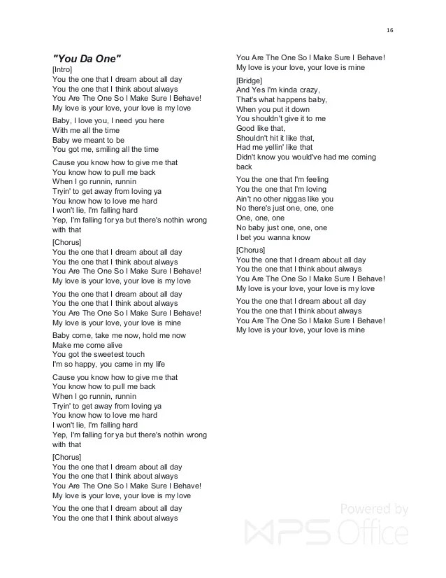 Baby When Lights Go Out Lyrics
