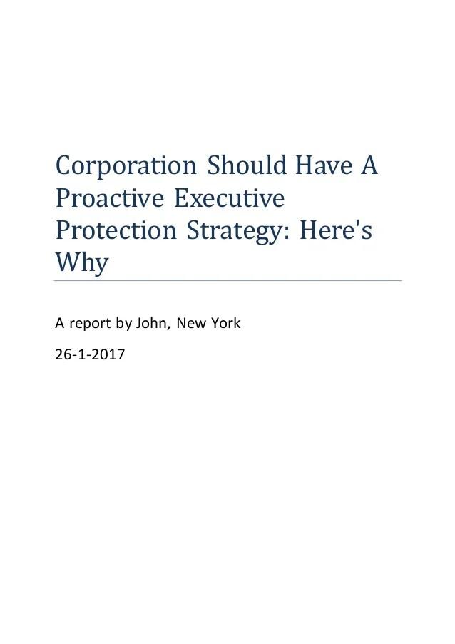 Executive Protection Nyc