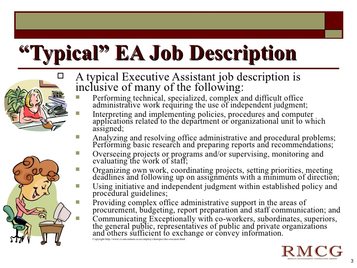 exceptional executive assistant 3 typical ea job