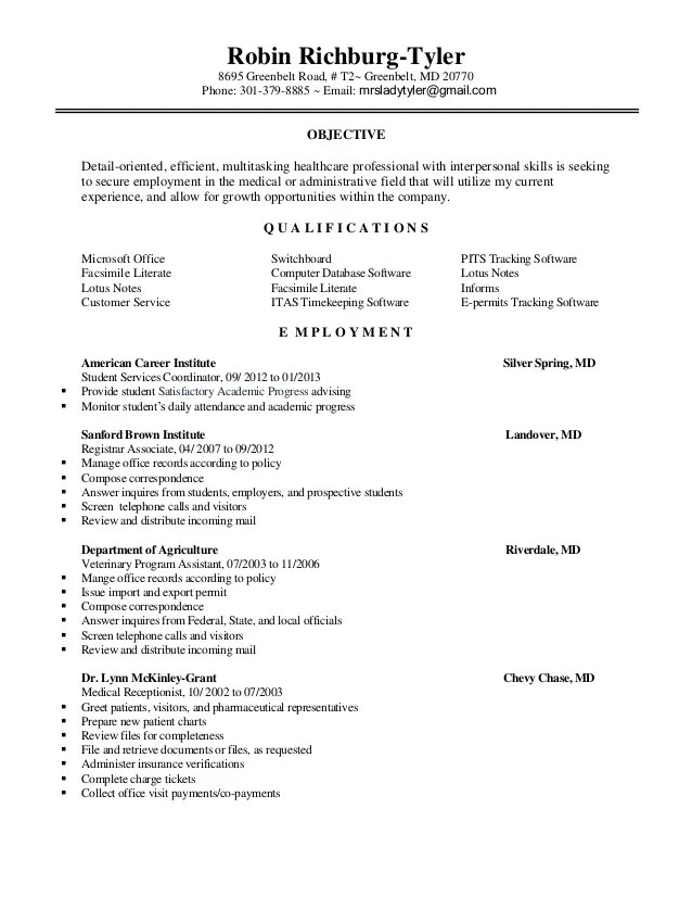 High School Registrar Resume