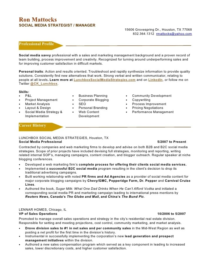 Resume Examples For Marketing Jobs. Sample Resume Example 4 Sales