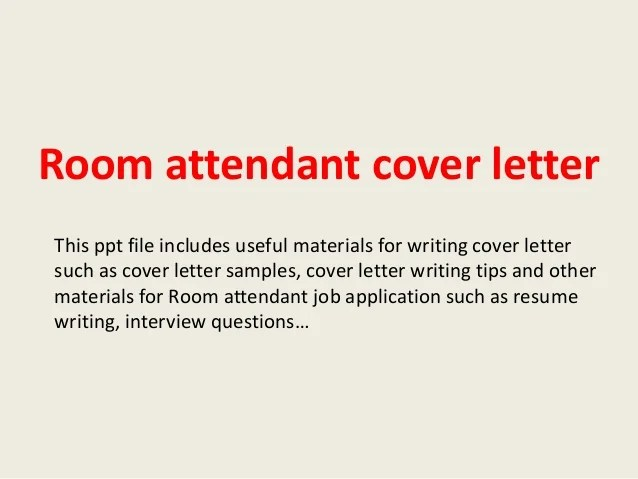 Sample Resume For Housekeeping Room Attendant. room attendant cover ...