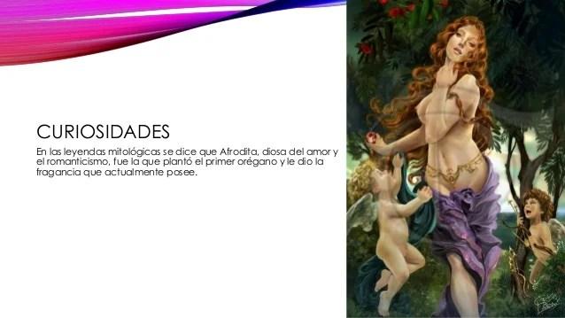 Resultado de imagen de foto de la diosa afrodita y el oregano