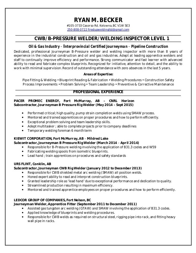 welding resume truwork resume samples combination welder resume