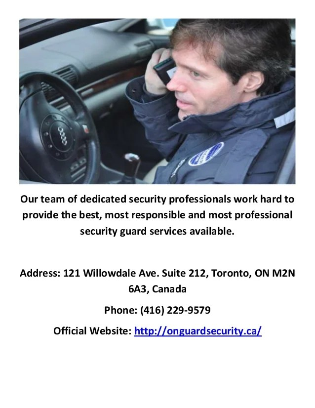 Bodyguard Services Toronto