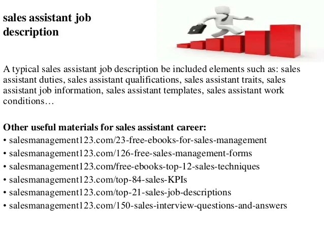 sales assistant job description gopitch co