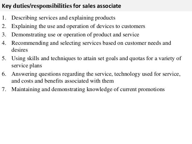 Best buy sales associate job description resume