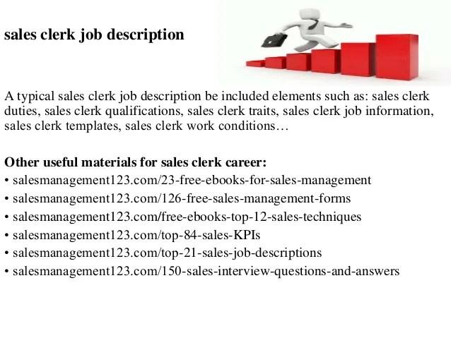 Sales Clerk Resume Job Description. sample inventory store sle ...
