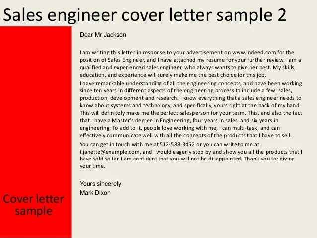 resume cover letter for sales engineer aafi