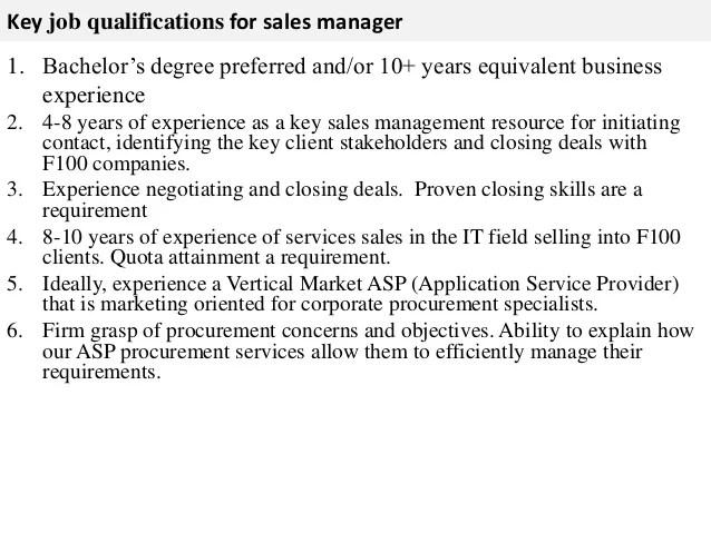 Sales Manager Resume Job Description. Samples Sample Event