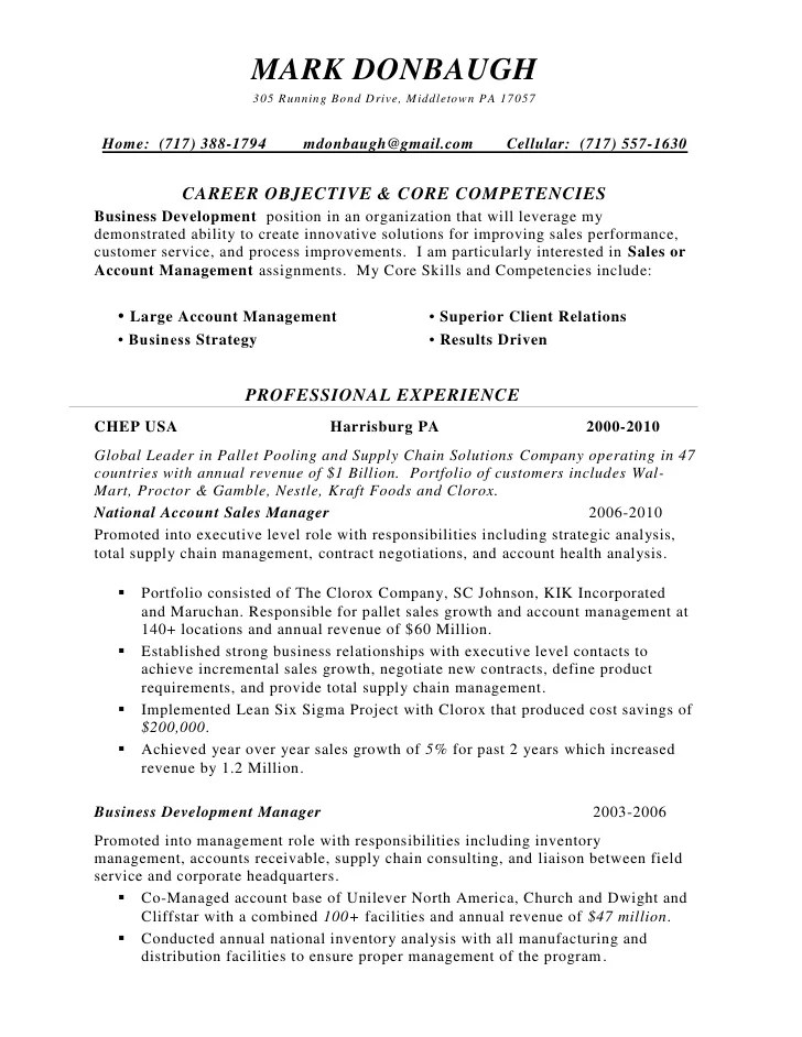 Resume For Sales Manager. Sales Manager Exemple De Cv Work