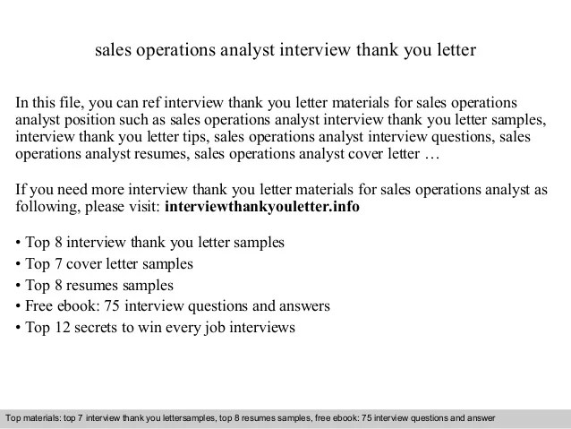 Sales Operations Analyst