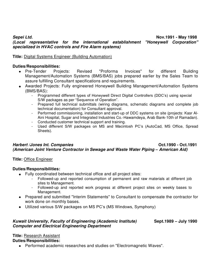 resume sample resume companion career resume banking list fire alarm