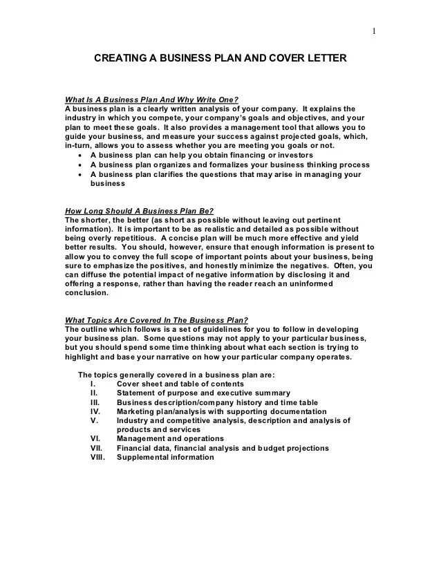 example of a business cover letter