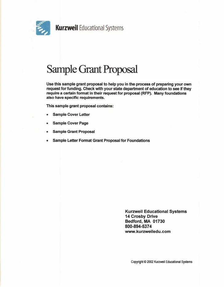 Sample Grant Proposal Template. grant cover letters template. how ...