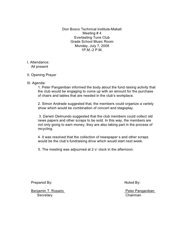 Minute Meeting Template. Download For Word Meetingking. Meeting