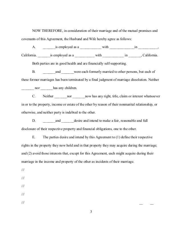 Postnuptial Agreement Template North Carolina Free Download