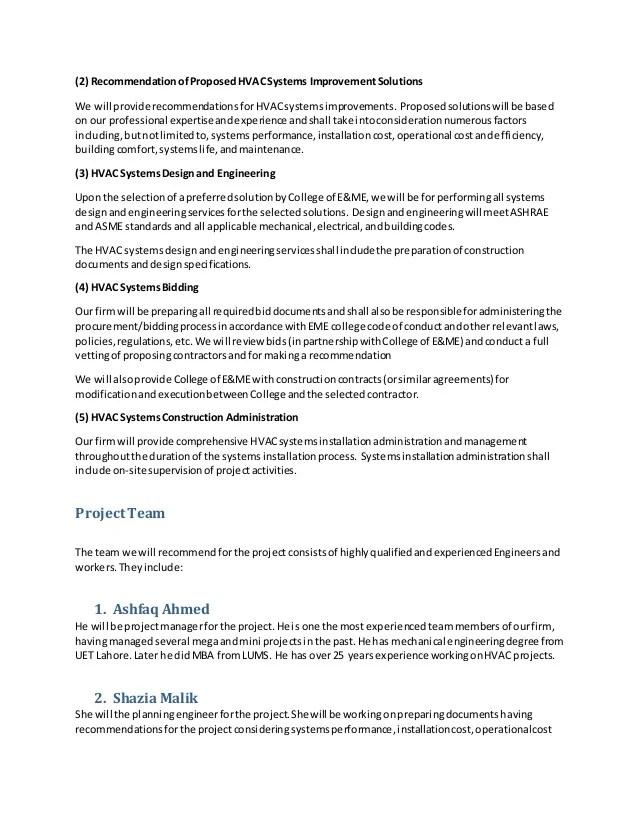 Hvac Proposals Template   FREE DOWNLOAD  Hvac Proposal Template