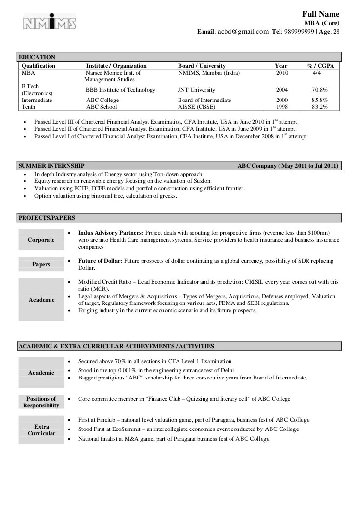 Mechanical Diploma Resume Format For Freshers Pinterest Mba Freshers Resume  Format For Finance In Resume Design