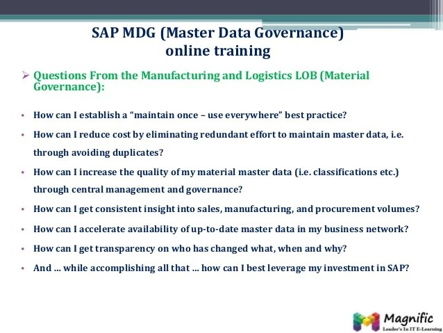 Sap Master Data Governance Resume  downloadmela com sap