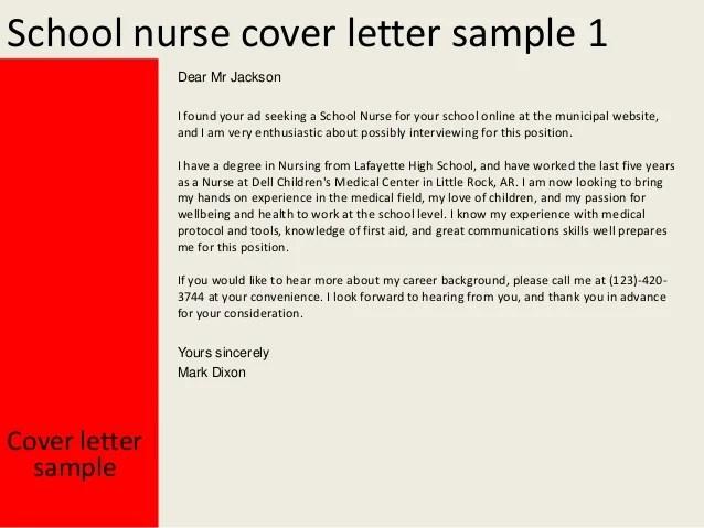 Resume For School Nurse. School Nurse Cover Letter. Sample Nursing