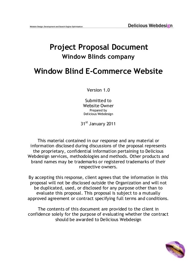 Scope Proposal Ecommerce Website