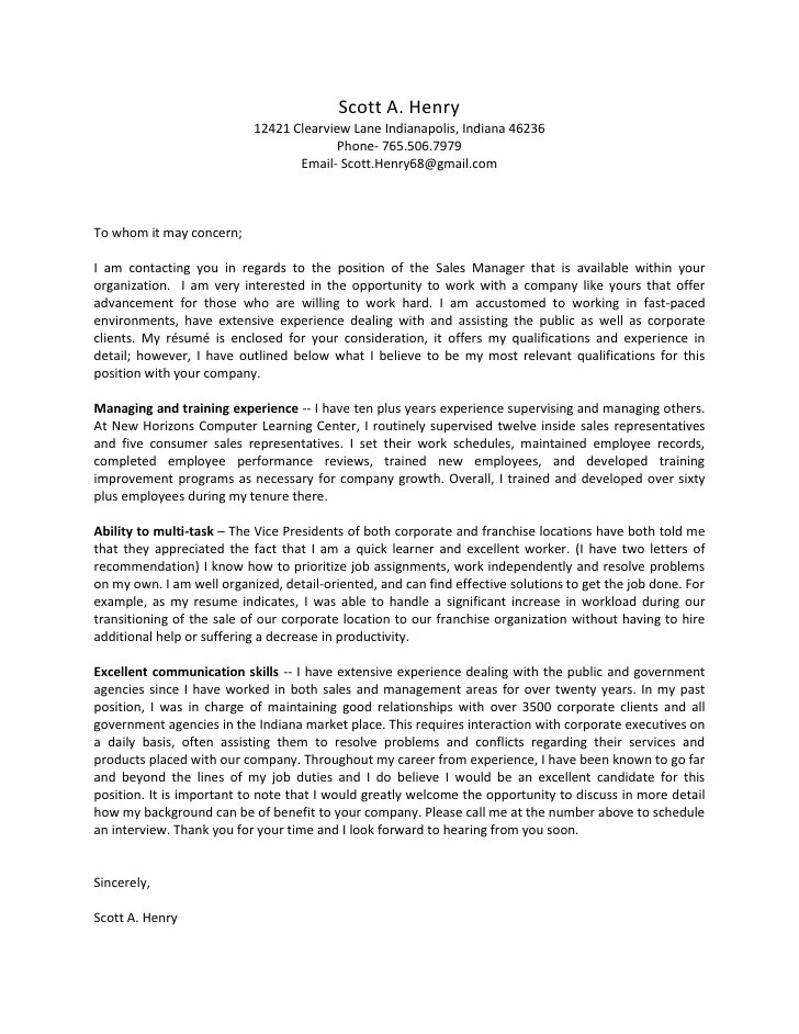scott a henry cover letter 2010 with resume and letters of recomendat cover letter network administrator