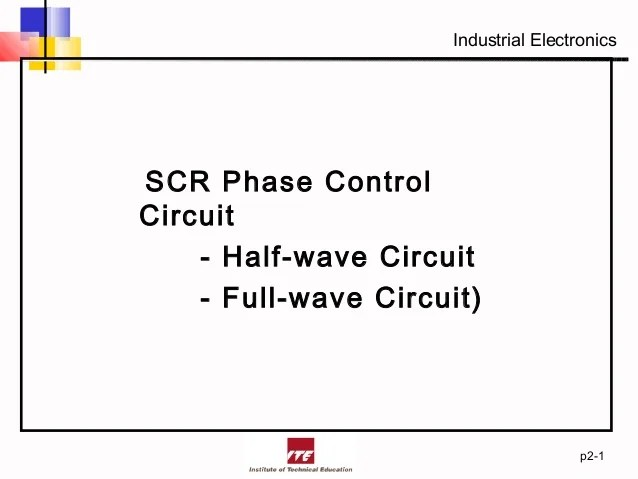 Silicon Control Rectifier Phase Control