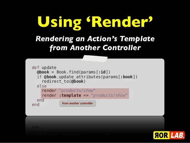 Rails Render Template  ruby on rails generate controller amp view