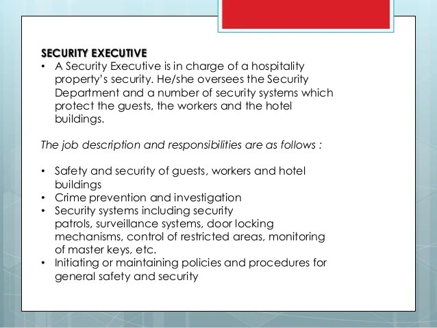 Executive Protection Sop