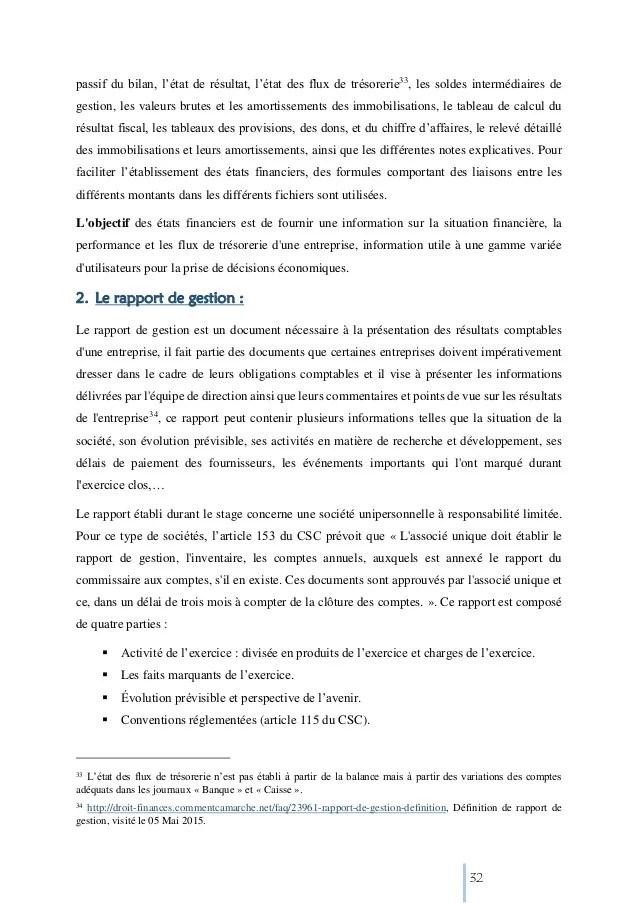 Rapport De Stage Comptabilit Sujet Les Comptences Et