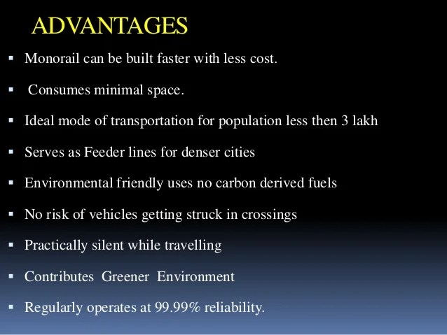 Ppt On Monorail Technology