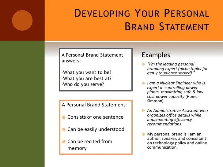 resume branding statement examples stonevoices co