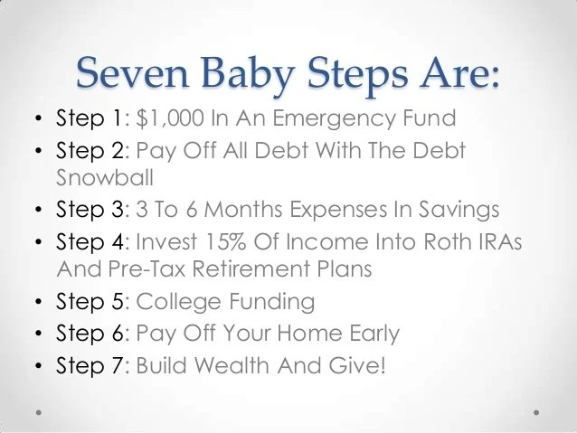 Seven Baby Steps By Dave Ramsey