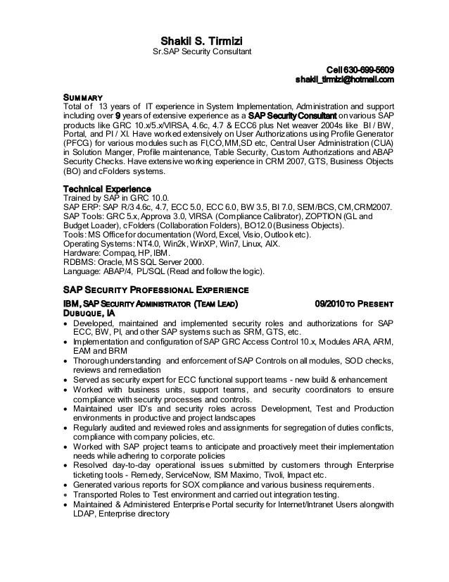 sap sample resume all modules fresher sample resume experienced