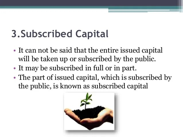 Image result for Subscribed Share Capital