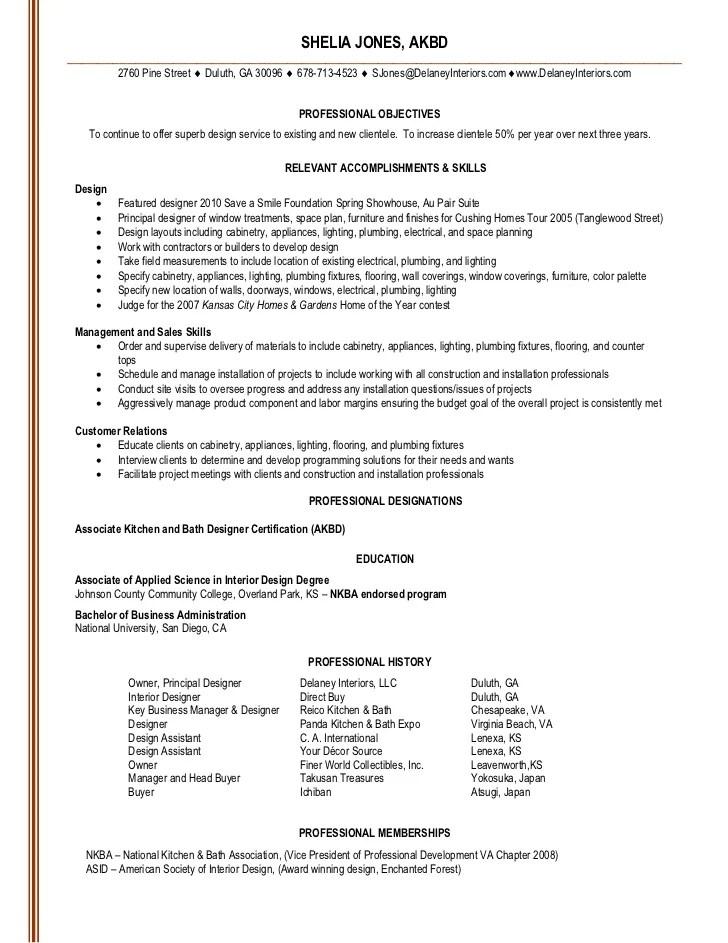 Interior Design Resume Objective. Interior Design Resume Examples
